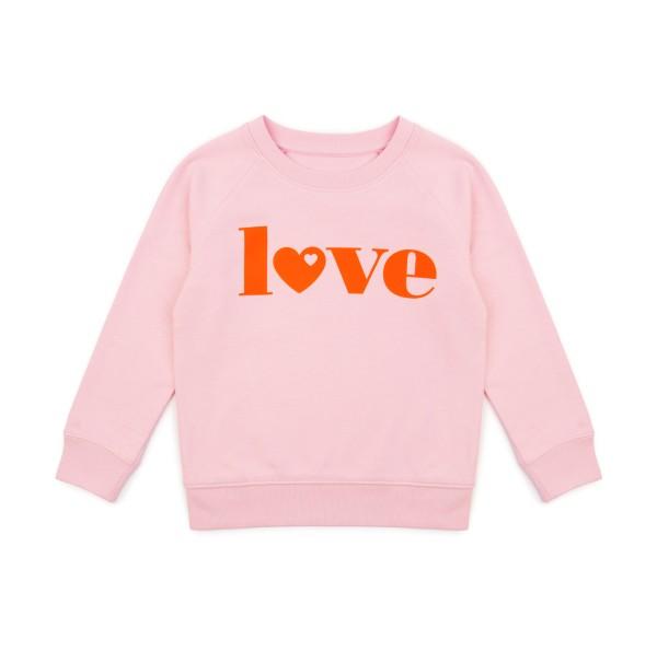 Kinder Sweatshirt Love - Rosa