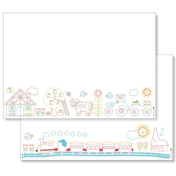 Malunterlagen-Set: Bauernhof & Eisenbahn