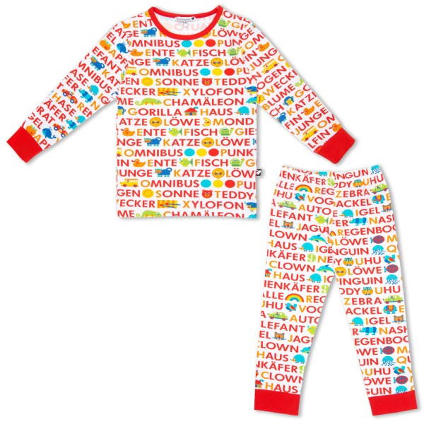 ABC Kinderschlafanzug / Rot