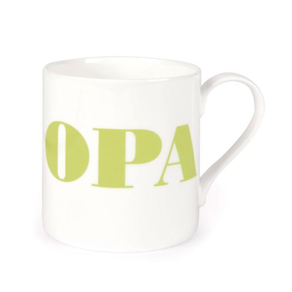 Porzellanbecher OPA / Apfel Grün