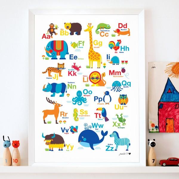 Tier-ABC Poster für Kinder   byGraziela   byGraziela