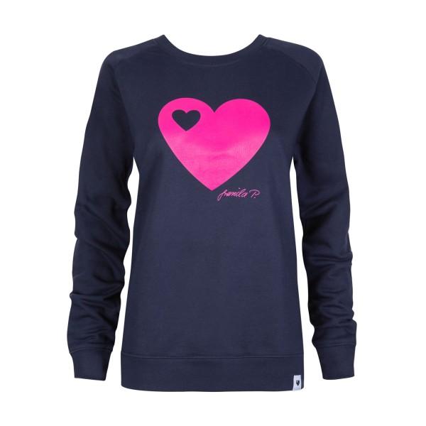 Sweatshirt / Herz Navy