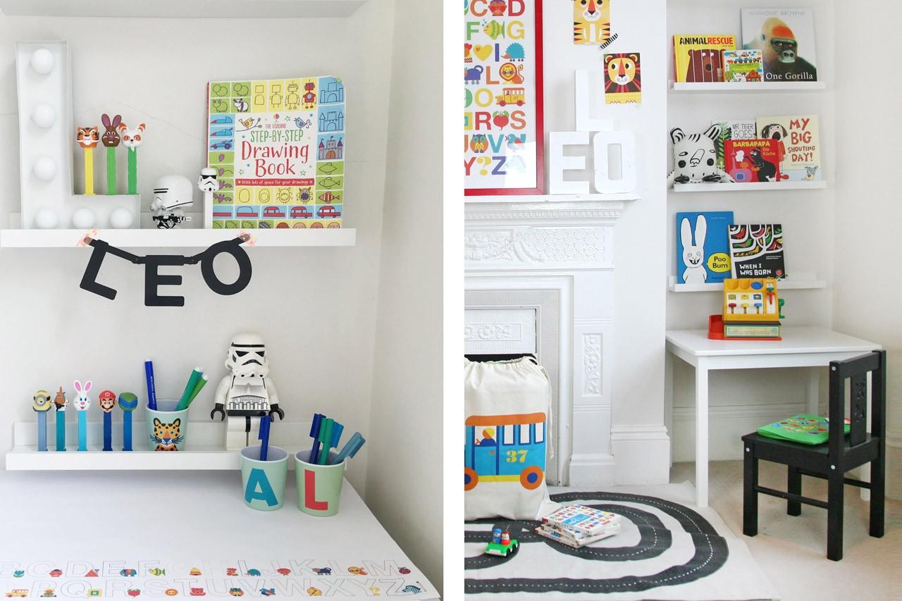 Kinderzimmer Malecke einrichten