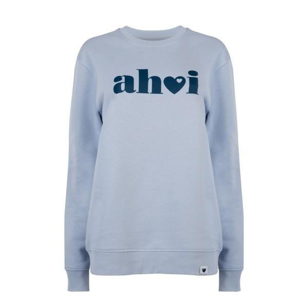 Sweatshirt Ahoi - Hellblau