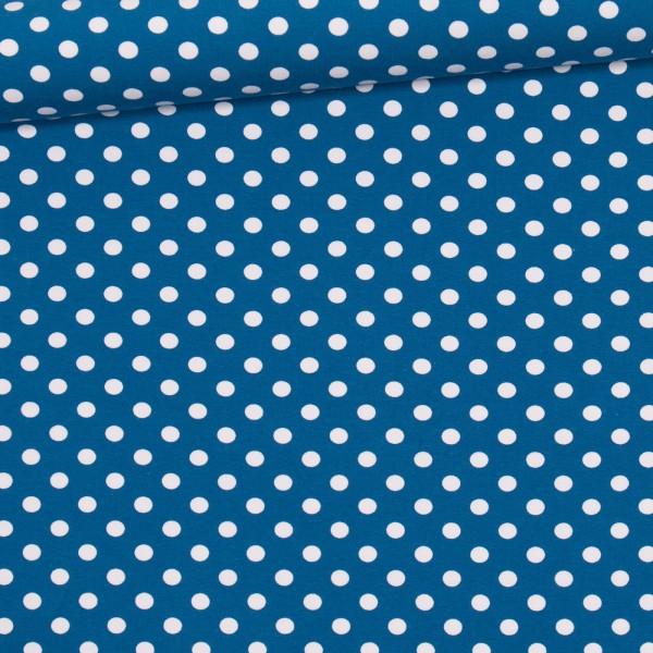 Jersey große Punkte / Blau