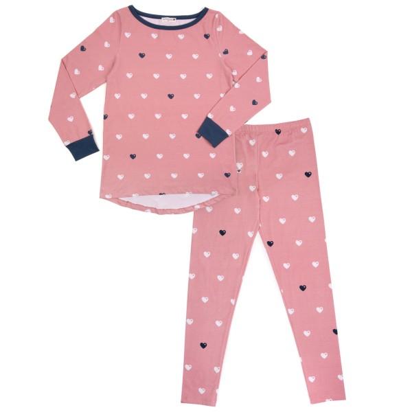 Mama Schlafanzug Herzen / Rosa