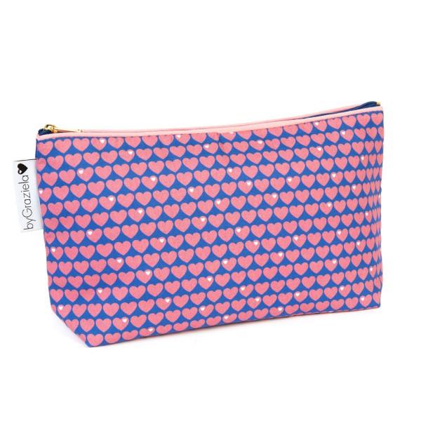 Herzen Kulturtasche / Pink