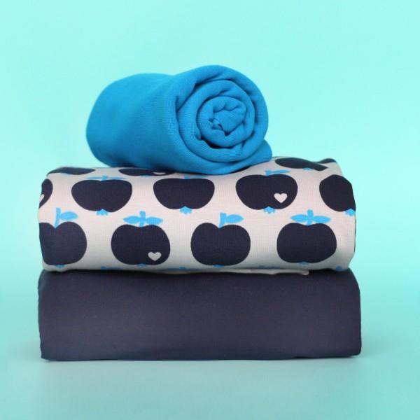 Stoffpaket Apfel - Blau