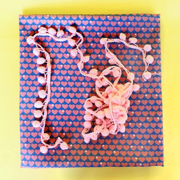 Herzen Baumwolle Kissenpaket Rosa / Rosa