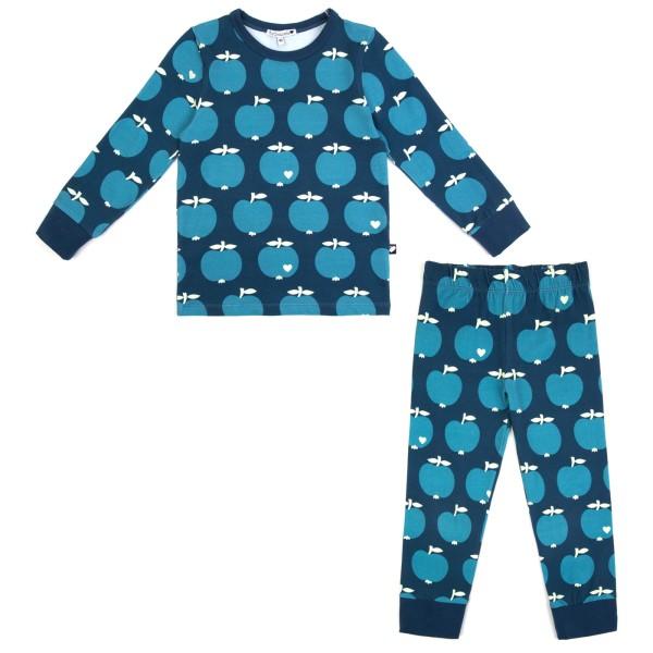 Kinderschlafanzug Apfel / Blau