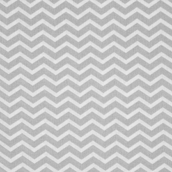 Baumwollstoff Chevron / Grau