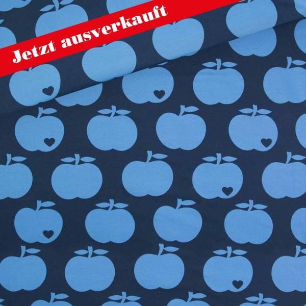 Baumwollsweat Big Apple / Blau