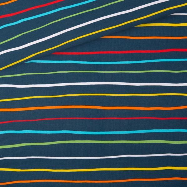 Jersey Regenbogen Krakelstreifen / Blau