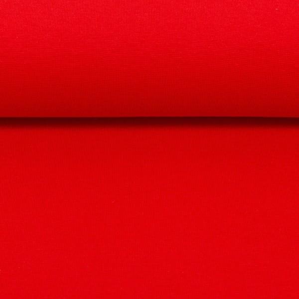 Bündchenstoff uni / Rot