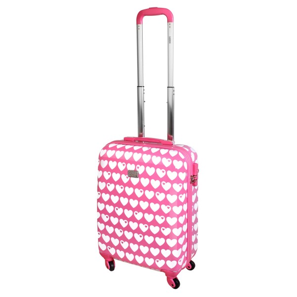 Koffer / Handgepäck / Herzen rosa