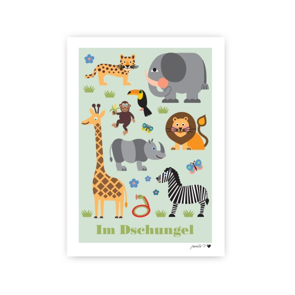 Poster Im Dschungel / A3