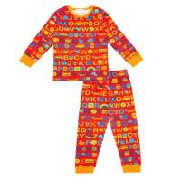Kinderschlafanzug ABC / Rot