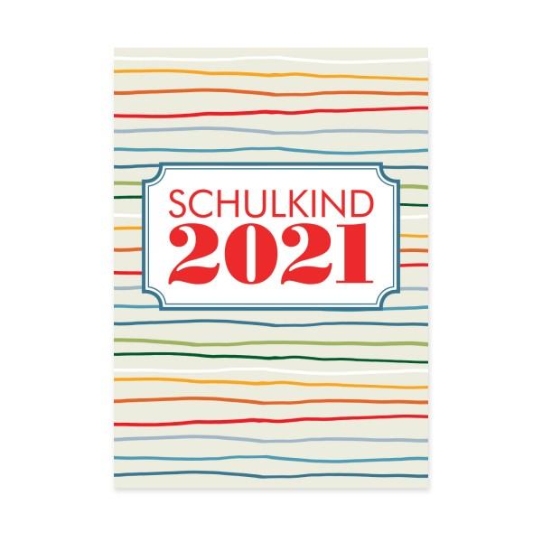 Postkarte Schulkind 2021